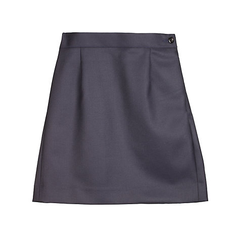 Buy Girls' School Wool Mix Pencil Skirt, Navy Online at johnlewis.com