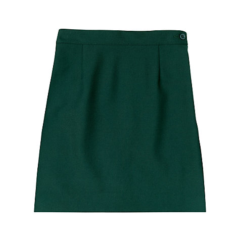 Buy Girls' School Wool Mix Pencil Skirt, Bottle Green Online at johnlewis.com