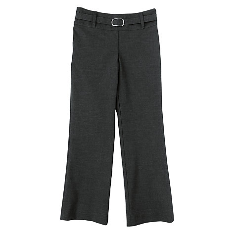 Buy John Lewis Girls' Belted School Trousers, Grey Online at johnlewis.com