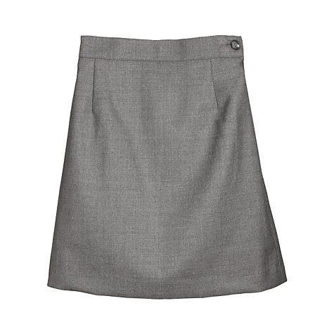 Buy Girls' School Wool Mix Pencil Skirt, Grey Online at johnlewis.com