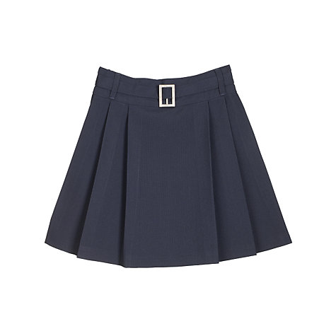 Buy John Lewis Girls' Belted School Kilt, Navy Online at johnlewis.com
