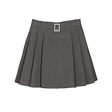 Buy John Lewis Girls' Belted School Kilt, Grey Online at johnlewis.com