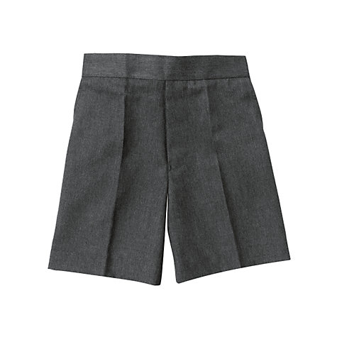 Buy John Lewis Boy's Easy-Care School Shorts, Grey Online at johnlewis.com