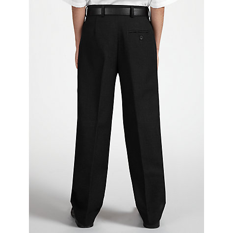 Buy John Lewis Boys' Tailored School Trousers with Belt, Charcoal Online at johnlewis.com