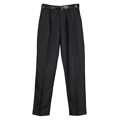 Buy John Lewis Boys' Easy-Care School Trousers, Grey Online at johnlewis.com