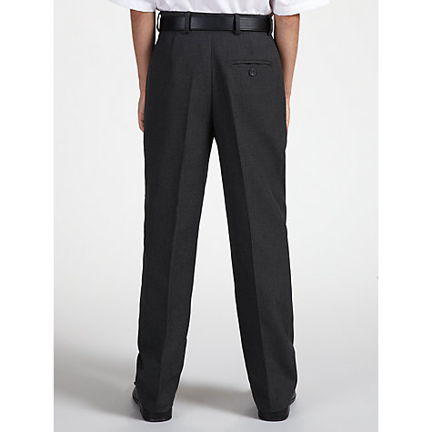 Buy John Lewis Boys' Tailored School Trousers with Belt, Grey Online at johnlewis.com