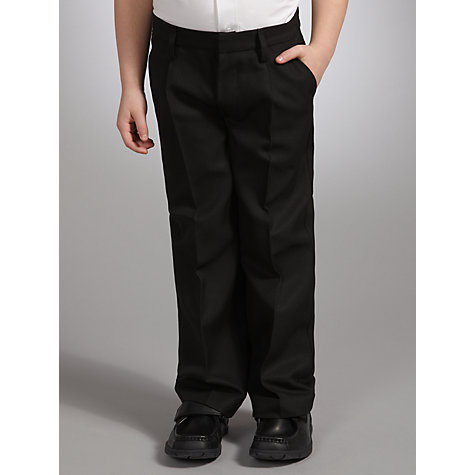 Buy John Lewis Boys' Easy-Care School Trousers, Black Online at johnlewis.com