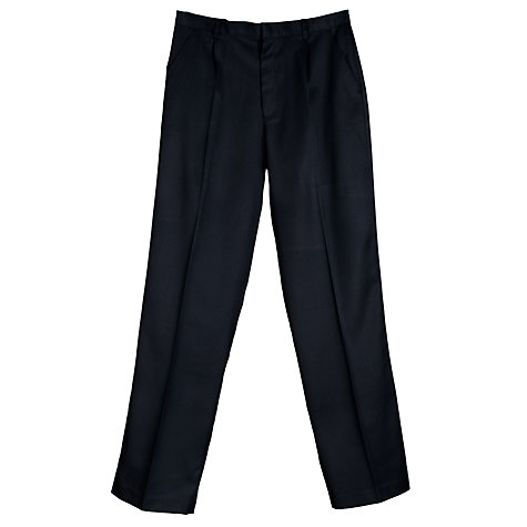 Buy John Lewis Boys' Easy-Care School Trousers, Navy Online at johnlewis.com