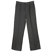 Buy John Lewis Boys' Easy-Care School Trousers, Charcoal Online at johnlewis.com