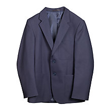"Buy John Lewis Boys' Polyester Blazer, Navy, Chest 46"" Online at johnlewis.com"