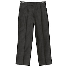 Buy John Lewis Boys' Polywool College Trousers, Charcoal Online at johnlewis.com
