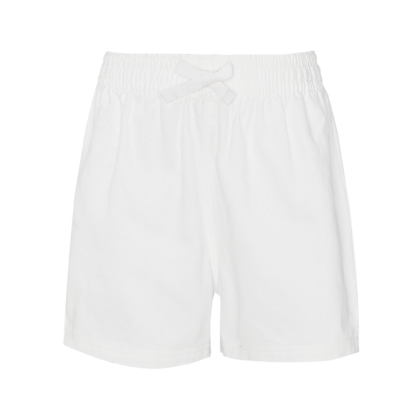 White Cotton Shorts - The Else