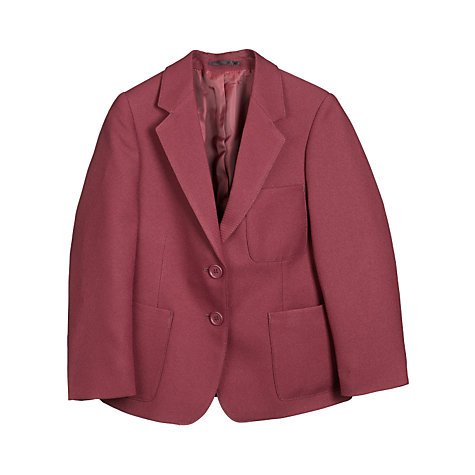 Buy John Lewis Girls' School Blazer, Maroon Online at johnlewis.com