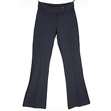 Buy John Lewis Girls' Button School Trousers, Navy Online at johnlewis.com