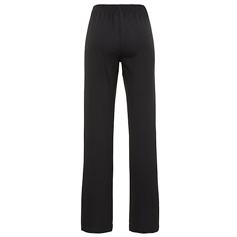 Buy John Lewis Girls' Button School Trousers, Black Online at johnlewis.com