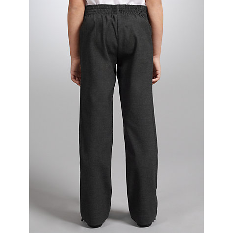 Buy John Lewis Girls' Button School Trousers, Grey Online at johnlewis.com
