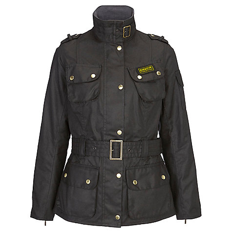Buy Barbour International Belted Jacket, Black Online at johnlewis.com