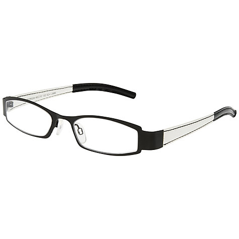 Buy Magnif Eyes Georgia Glacier Readers Glasses, Black Online at johnlewis.com