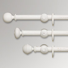 Buy John Lewis Scratched White Wood Curtain Poles, Dia.35mm  Online at johnlewis.com