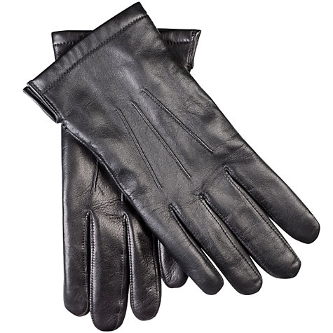 Buy John Lewis Premium Silk Lined Leather Gloves Online at johnlewis.com