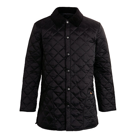 Buy Barbour Liddesdale Quilted Jacket, Black Online at johnlewis.com