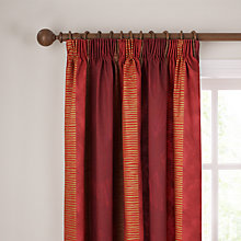 Buy John Lewis San Marino Pencil Pleat Curtains, Pimento Online at johnlewis.com
