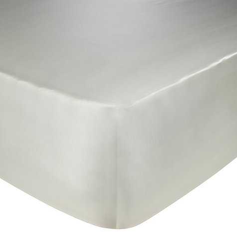 Buy John Lewis Silk Flat Sheets, Ivory Online at johnlewis.com