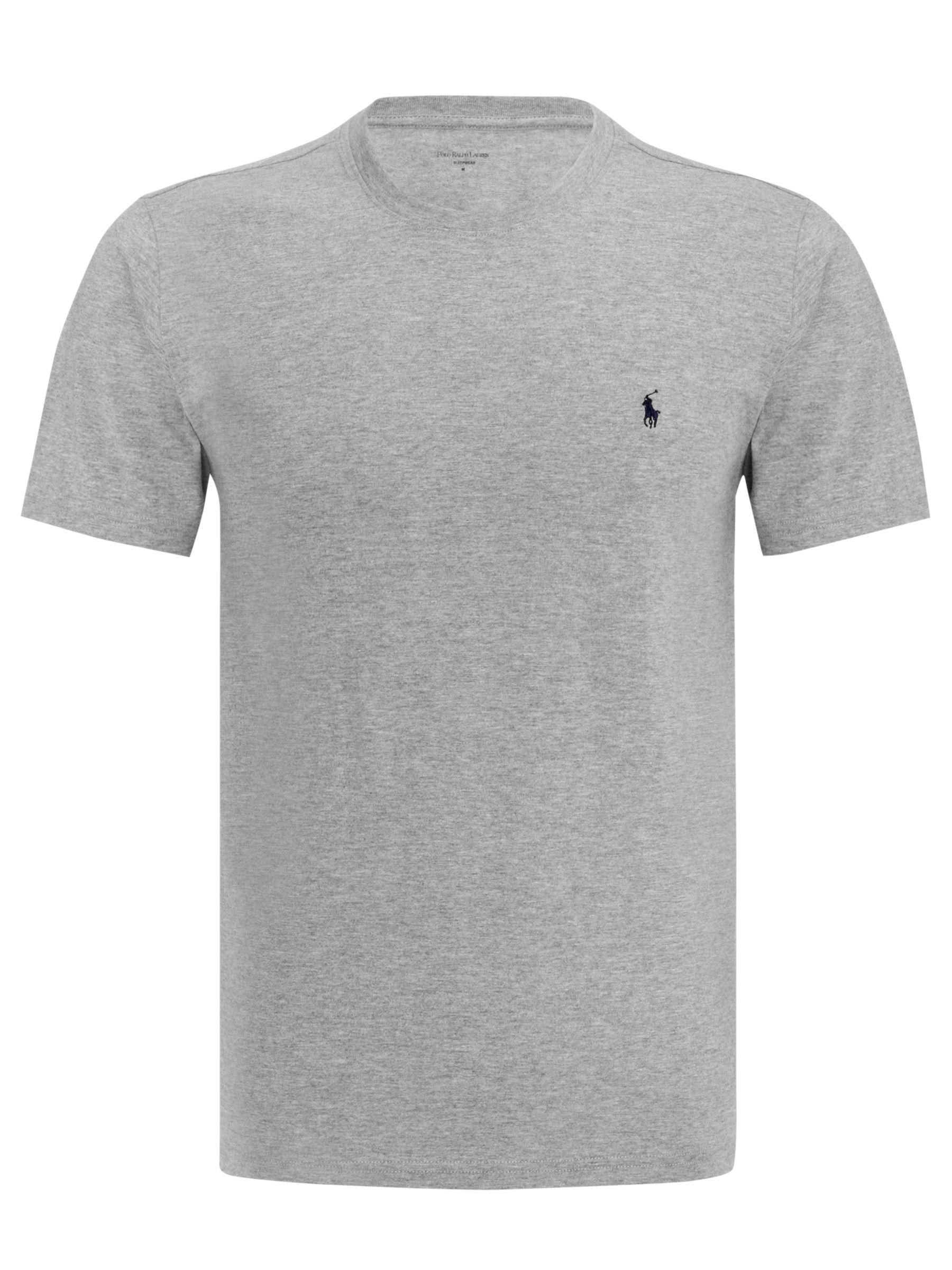 Polo Ralph Lauren Crew Neck Lounge T-Shirt, Grey