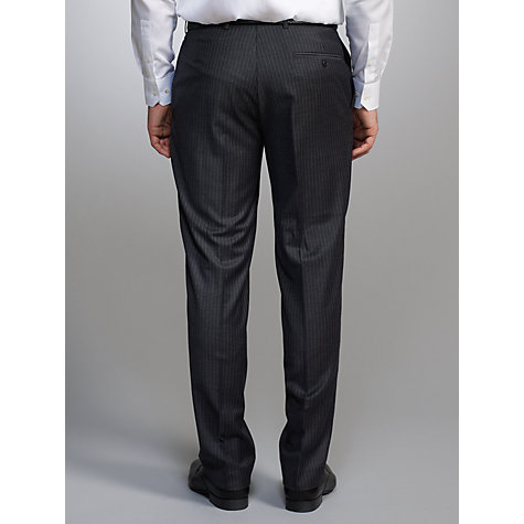 Buy John Lewis Super 100s Wool Flannel Stripe Suit Trousers Online at johnlewis.com