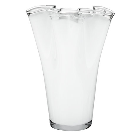 Buy John Lewis Handkerchief Vases, White Online at johnlewis.com