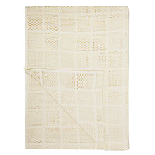 Buy John Lewis Aircell Polycotton Blanket, Ecru Online at johnlewis.com