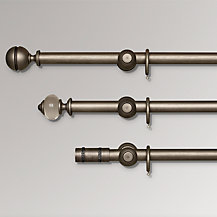 John Lewis Dark Pearl Curtain Poles, Dia.35mm