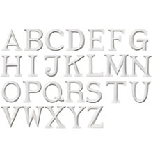 Buy Posh Graffiti Wooden Letters A-Z, White Online at johnlewis.com