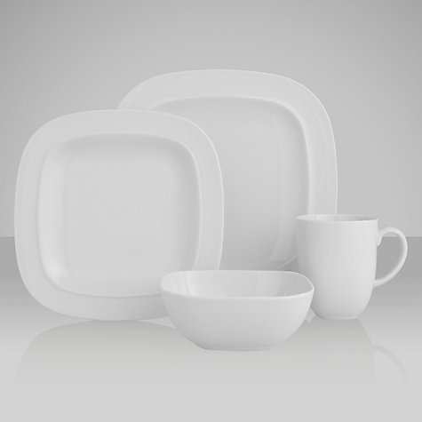 Buy Denby White Squares Tableware Online at johnlewis.com