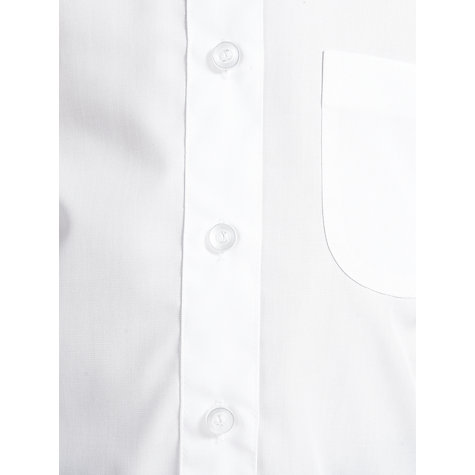 Buy John Lewis Girls' Non-Iron Long Sleeve School Blouse, Pack of 2, White Online at johnlewis.com