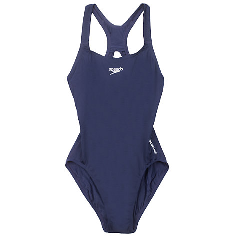 Buy Speedo Girls' Medalist Swimsuit, Navy Online at johnlewis.com