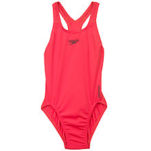 Buy Speedo Girls' Medalist Swimsuit, Red Online at johnlewis.com