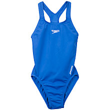 Buy Speedo Girls' Medalist Swimsuit, Royal Blue Online at johnlewis.com
