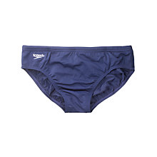 Buy Speedo Boys' Endurance Swim Briefs, Navy Online at johnlewis.com