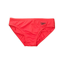 Buy Speedo Boys' Endurance Swim Briefs, Red Online at johnlewis.com