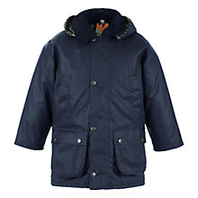 Buy John Lewis Unisex Wax Jacket, Navy Online at johnlewis.com