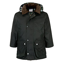 Buy John Lewis Unisex Wax Jacket, Green Online at johnlewis.com