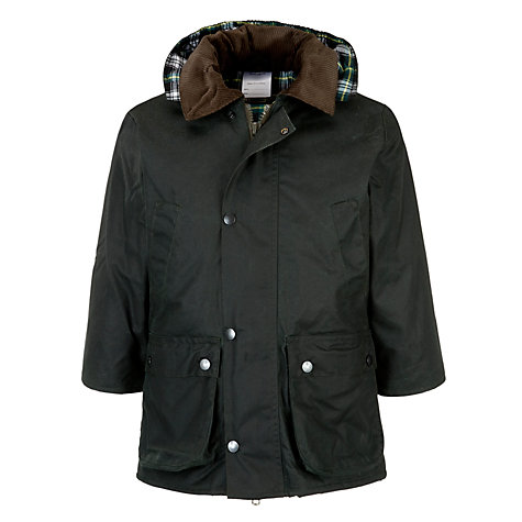 Buy John Lewis Children's Wax Jacket, Olive Green Online at johnlewis.com