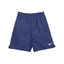 Buy Speedo Boys' Solid Leisure Water Shorts, Navy Online at johnlewis.com