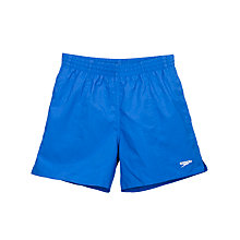 Buy Speedo Boys' Solid Leisure Water Shorts, Blue Online at johnlewis.com
