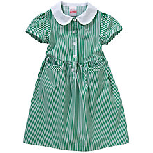 Buy John Lewis School Striped Summer Dress, Green Online at johnlewis.com