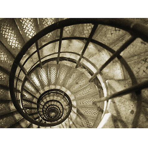 Buy Christian Peacock - Spiral Staircase In The Arc De Triomphe Online at johnlewis.com