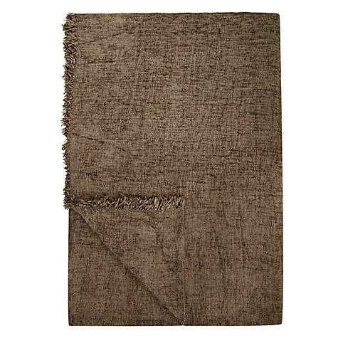 Buy John Lewis Roma Chenille Throw, Sage Online at johnlewis.com