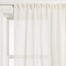 Buy John Lewis Cadiz Voile Panel, Cream Online at johnlewis.com