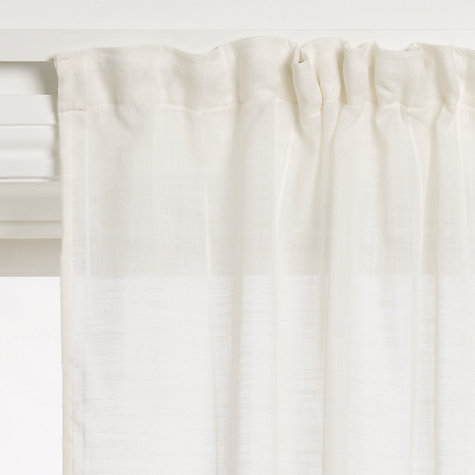 Buy John Lewis Cadiz Slot and Tape Top Voile Panel, Cream Online at johnlewis.com